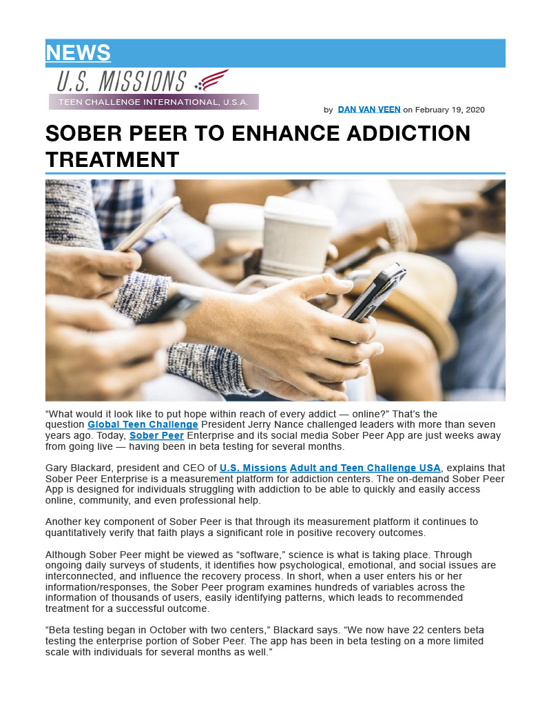 AG NEWS Sober Peer Article